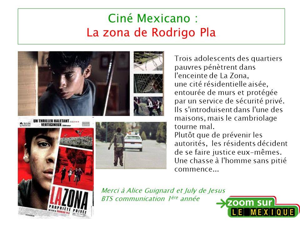 Ciné Mexicano : La zona de Rodrigo Pla Trois adolescents des quartiers pauvres pénètrent dans l enceinte de La Zona, une cité résidentielle aisée, entourée de murs et protégée par un service de sécurité privé.