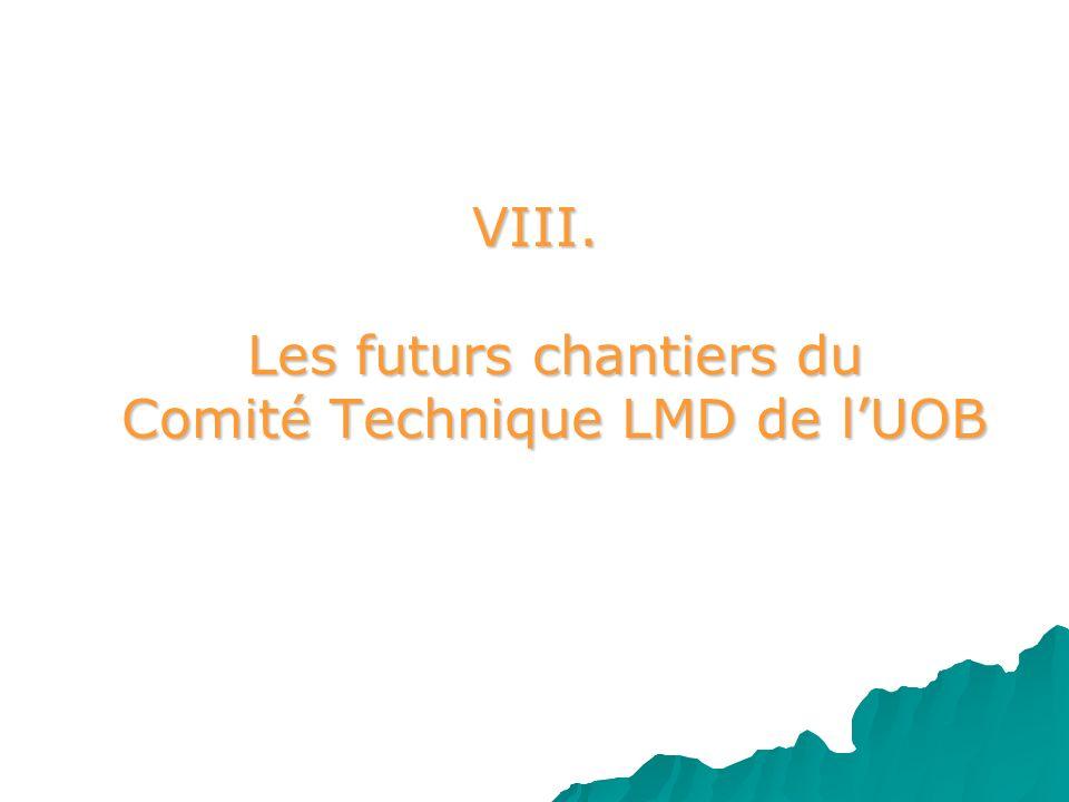 VIII. Les futurs chantiers du Comité Technique LMD de lUOB