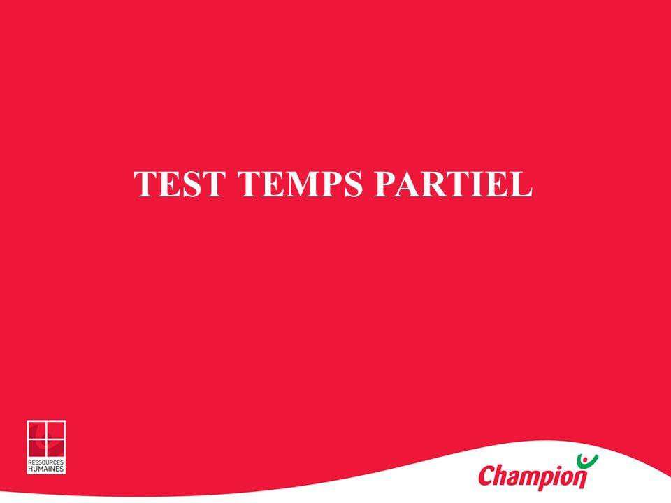 TEST TEMPS PARTIEL