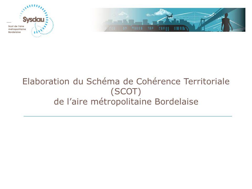 Elaboration du Schéma de Cohérence Territoriale (SCOT) de laire métropolitaine Bordelaise