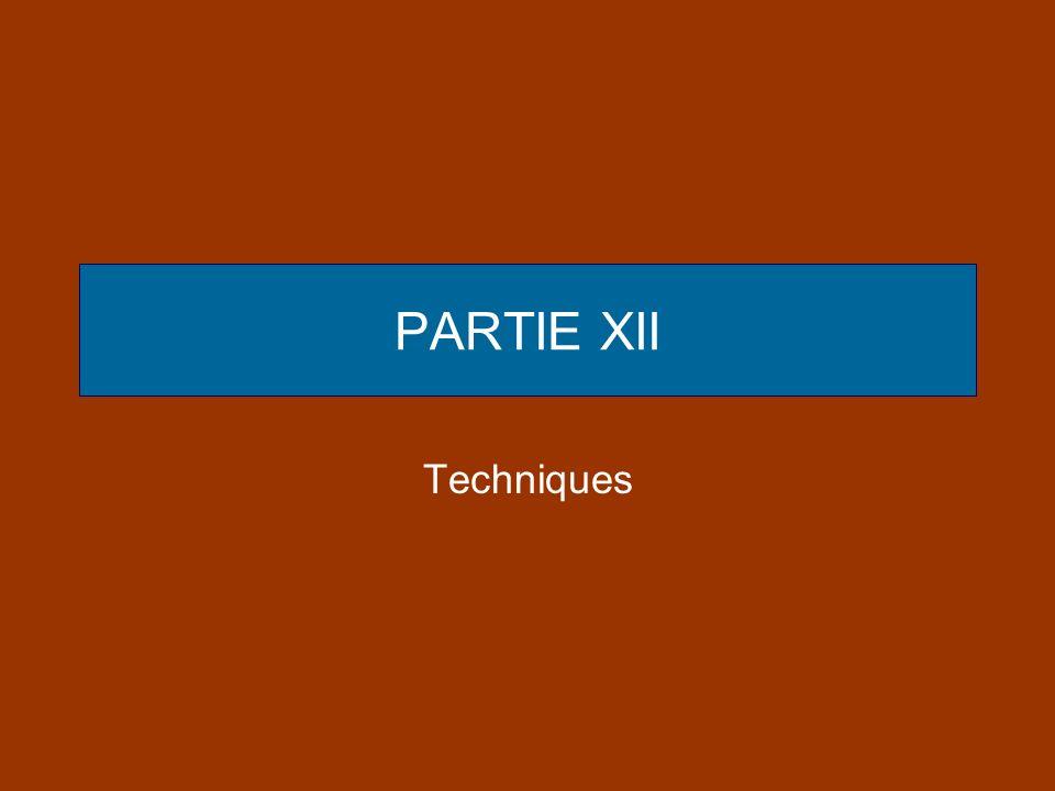 PARTIE XII Techniques