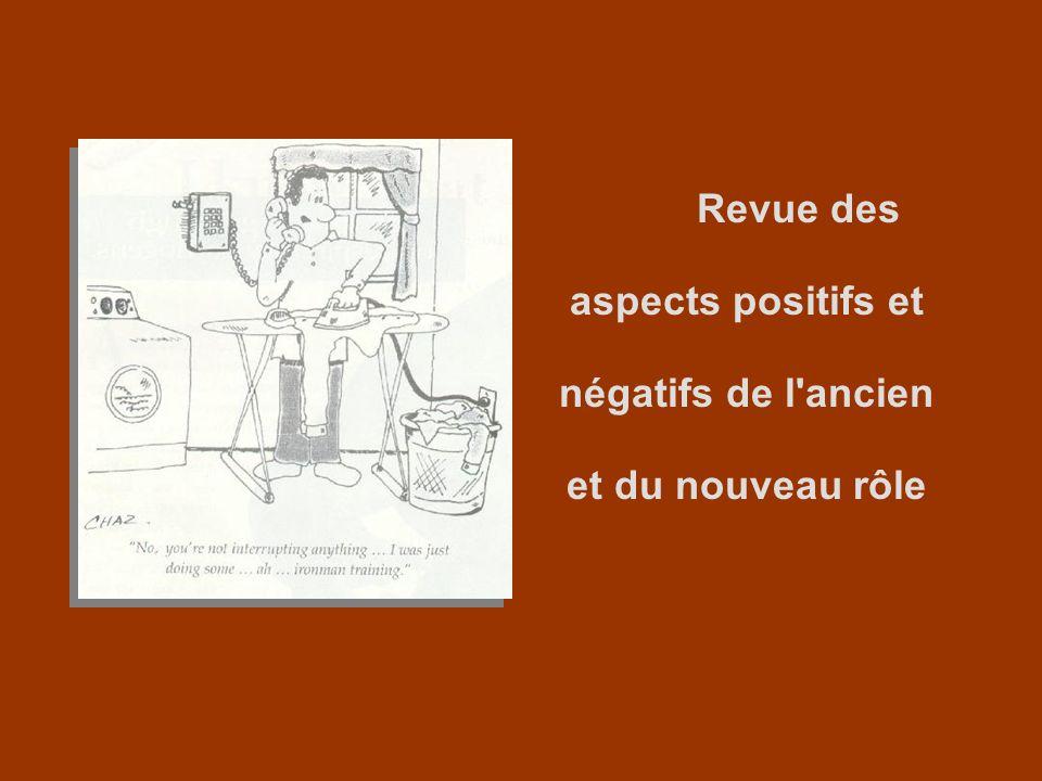 Revue des aspects positifs et négatifs de l'ancien et du nouveau rôle