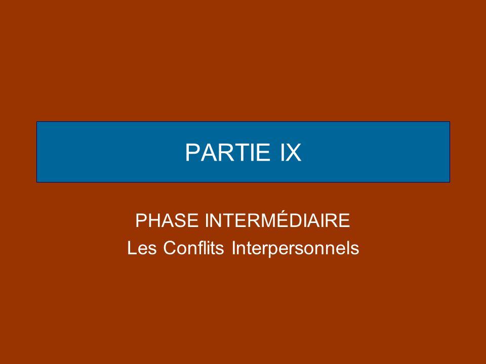 PARTIE IX PHASE INTERMÉDIAIRE Les Conflits Interpersonnels