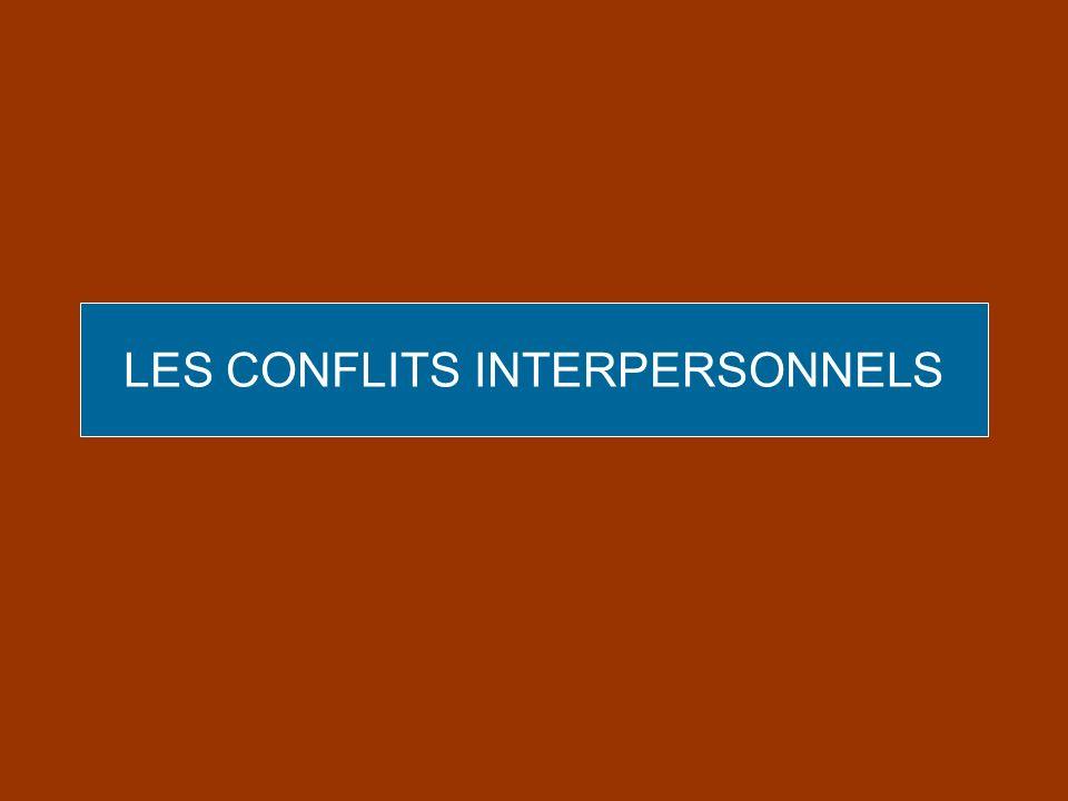 LES CONFLITS INTERPERSONNELS