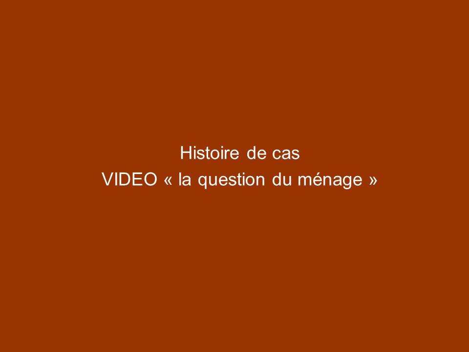 Histoire de cas VIDEO « la question du ménage »