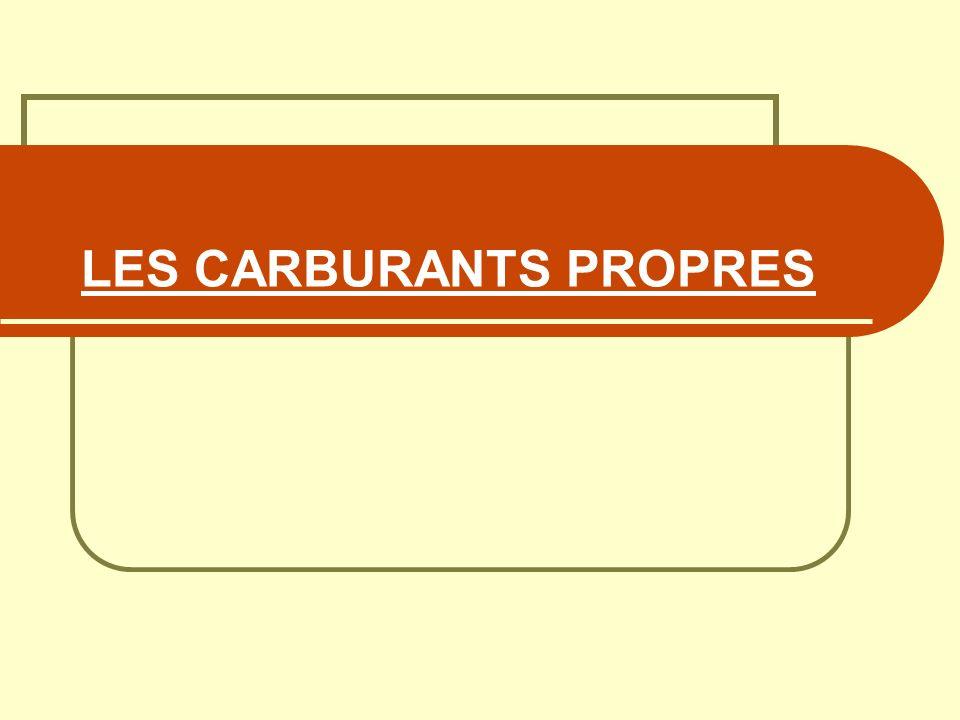 LES CARBURANTS PROPRES