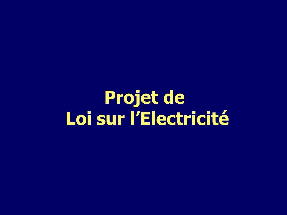 Projet de Loi sur lElectricité