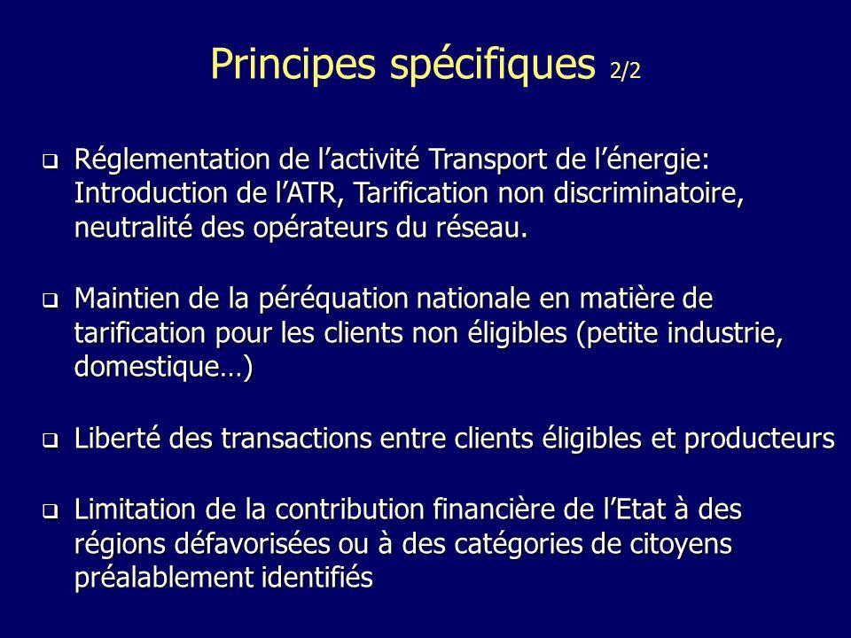 Réglementation de lactivité Transport de lénergie: Introduction de lATR, Tarification non discriminatoire, neutralité des opérateurs du réseau.