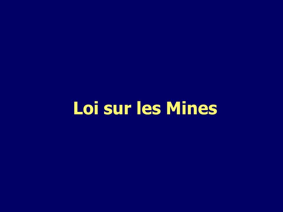 Loi sur les Mines