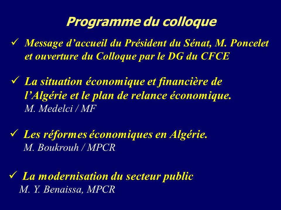 Programme du colloque La modernisation du secteur public M.
