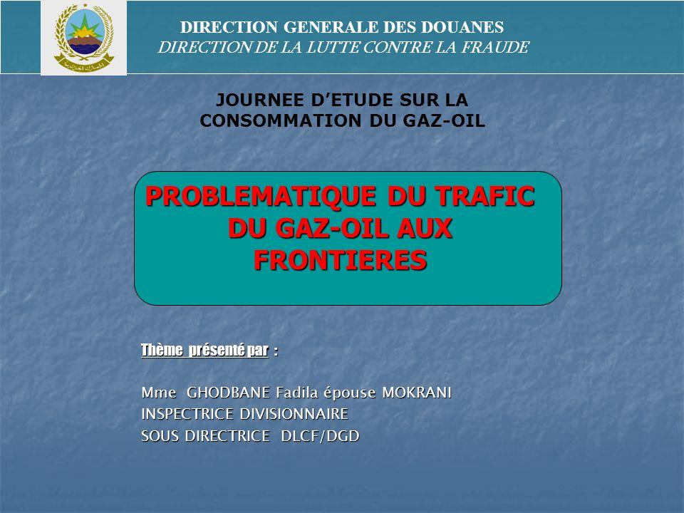 Thème présenté par : Mme GHODBANE Fadila épouse MOKRANI INSPECTRICE DIVISIONNAIRE SOUS DIRECTRICE DLCF/DGD DIRECTION GENERALE DES DOUANES DIRECTION DE