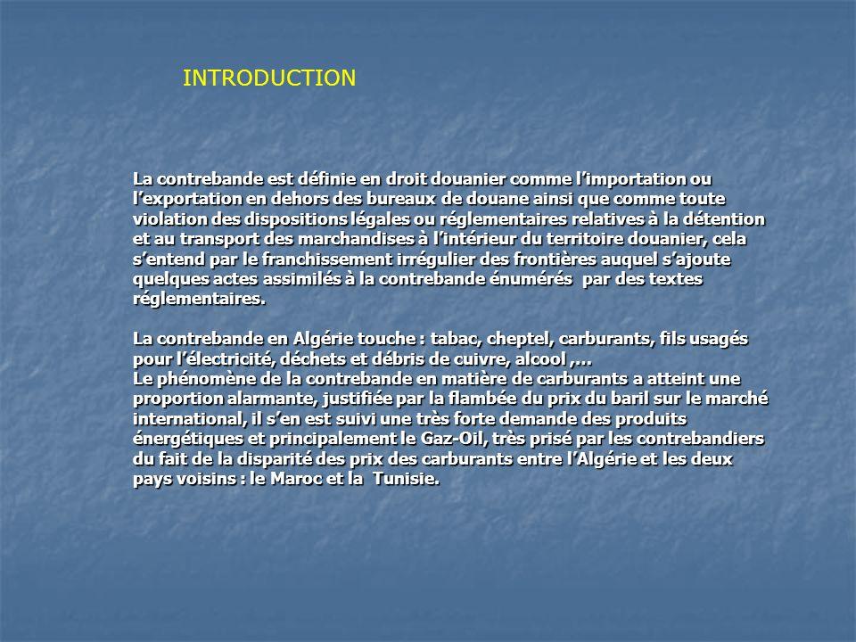 La contrebande est définie en droit douanier comme limportation ou lexportation en dehors des bureaux de douane ainsi que comme toute violation des di