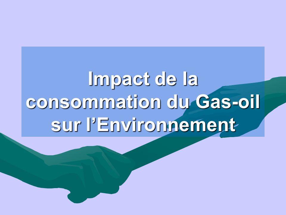 La charge de pollution générée par la consommation des différents carburants, est évaluée dans le cadre de linventaire national des émissions à partir de : - la structure du parc - la distance moyenne parcourue - la quantité annuelle du carburant consommée