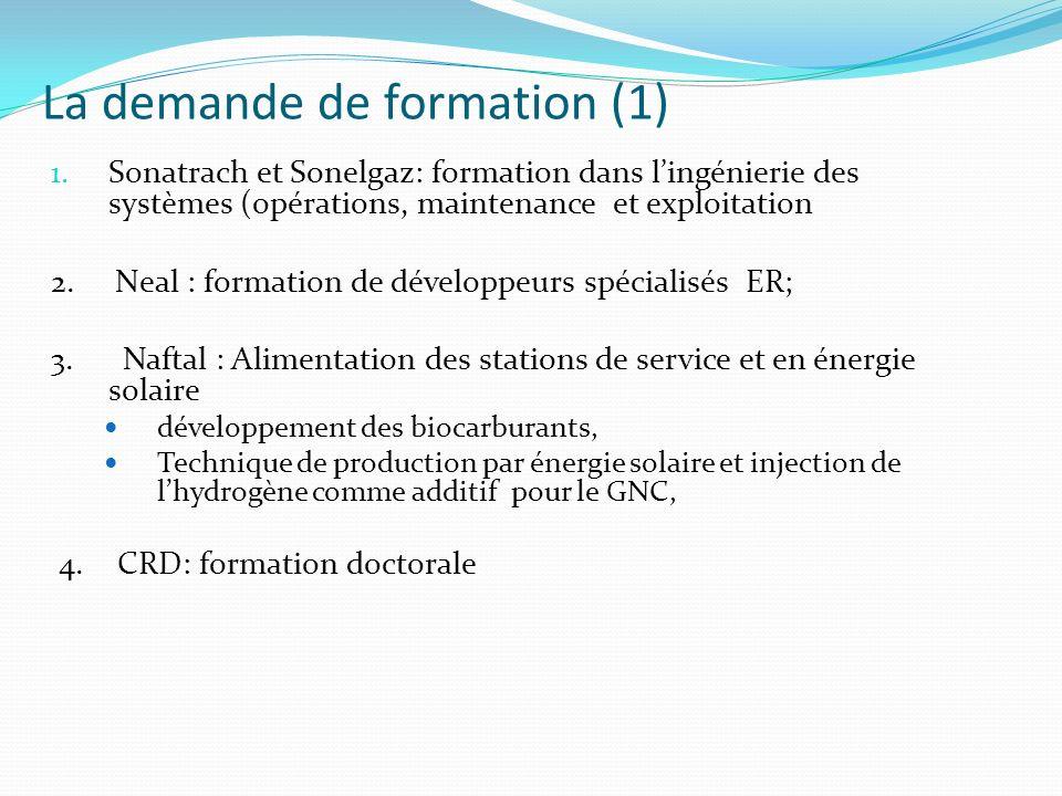 1. Sonatrach et Sonelgaz: formation dans lingénierie des systèmes (opérations, maintenance et exploitation 2. Neal : formation de développeurs spécial