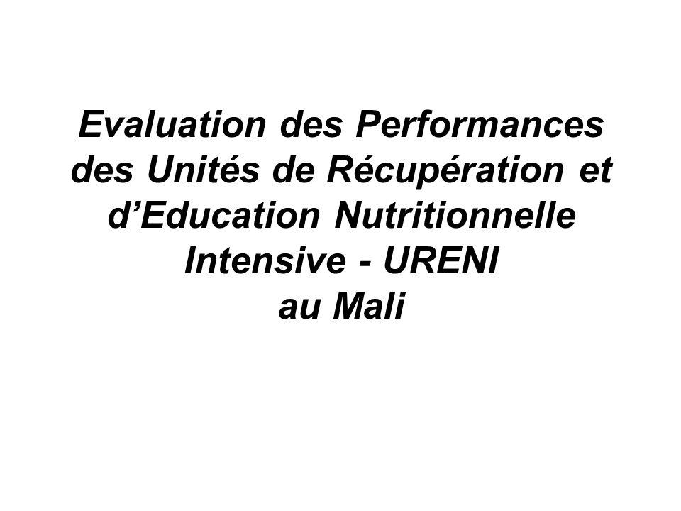 Evaluation des Performances des Unités de Récupération et dEducation Nutritionnelle Intensive - URENI au Mali