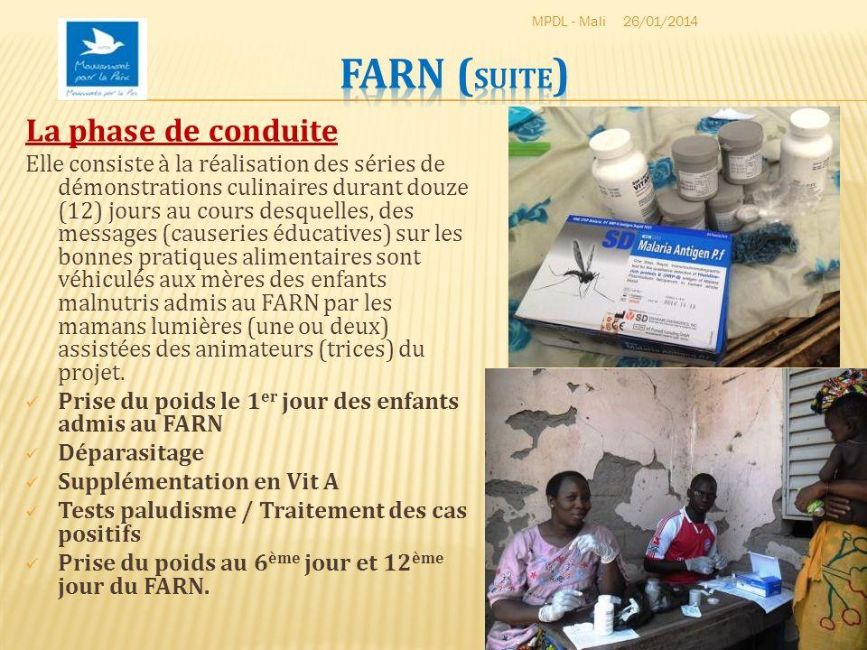 Au 12 ème jour du FARN, des rations alimentaires sèches ont été distribuées aux mères afin quelles puissent continuer à domicile la récupération nutritionnelle de leurs enfants.