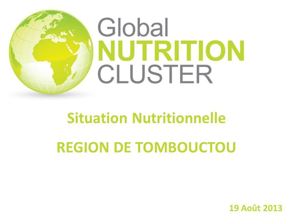 Situation Nutritionnelle REGION DE TOMBOUCTOU 19 Août 2013