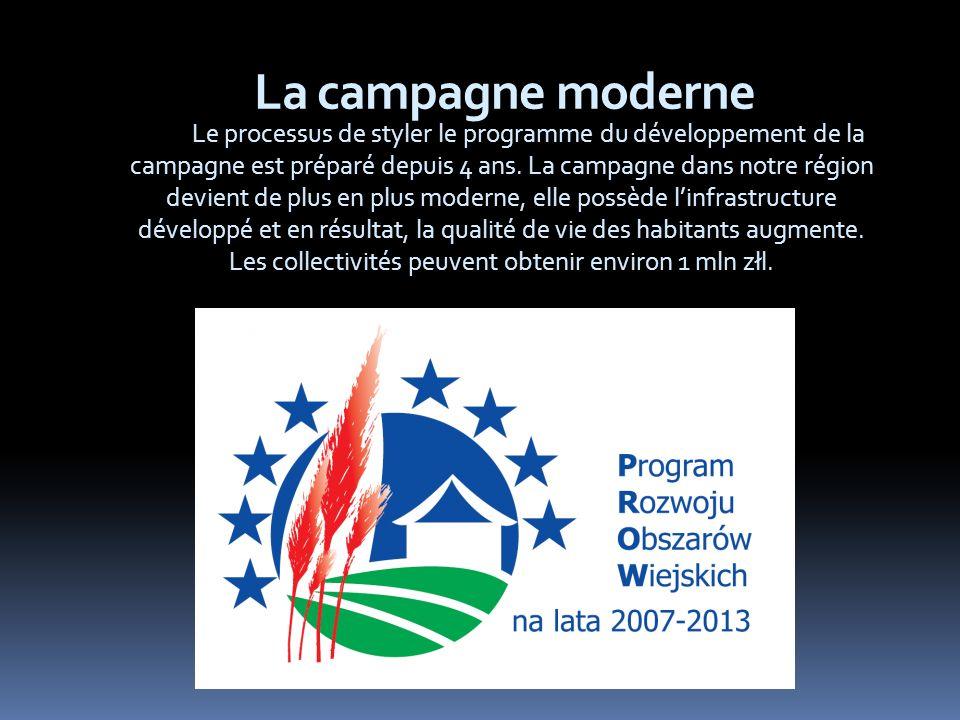 La campagne moderne Le processus de styler le programme du développement de la campagne est préparé depuis 4 ans.