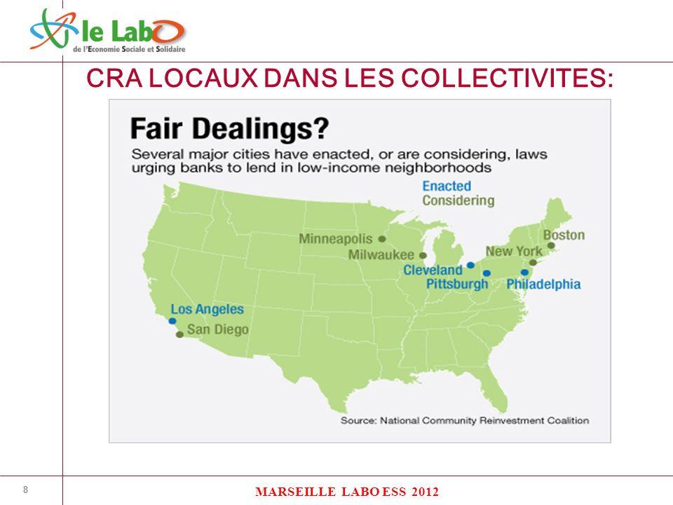 8 CRA LOCAUX DANS LES COLLECTIVITES: MARSEILLE LABO ESS 2012