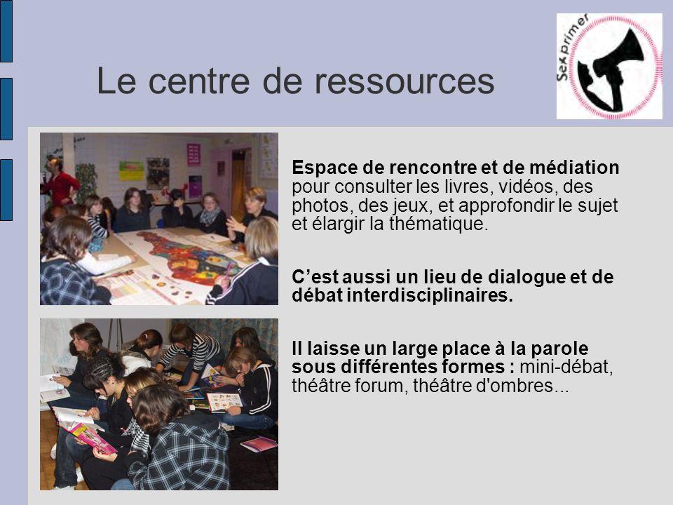 Le centre de ressources Espace de rencontre et de médiation pour consulter les livres, vidéos, des photos, des jeux, et approfondir le sujet et élargi