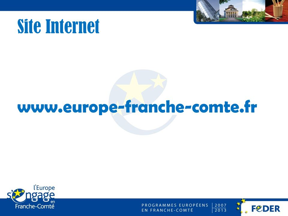 Site Internet www.europe-franche-comte.fr