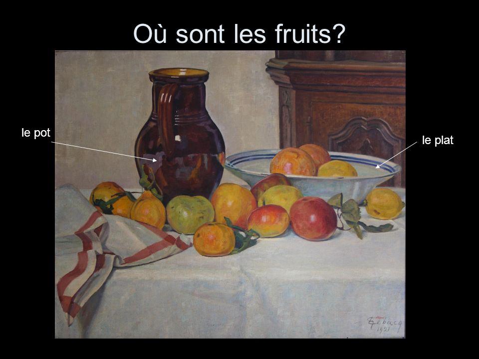 Où sont les fruits le pot le plat