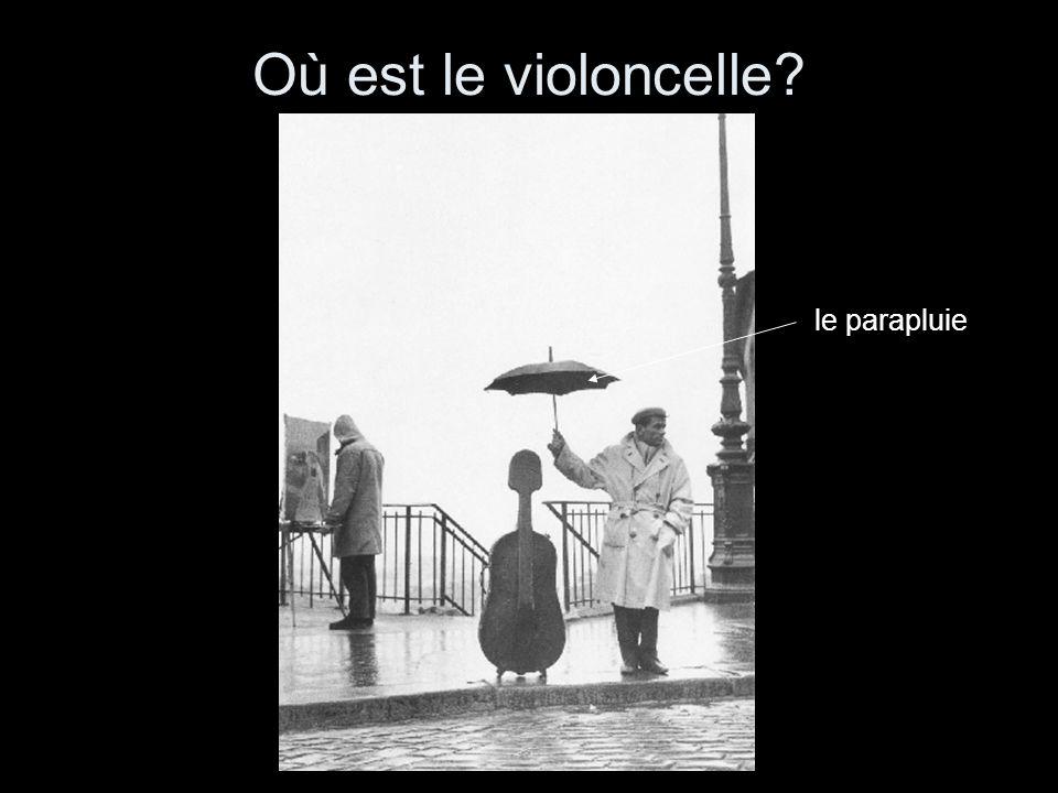 Où est le violoncelle le parapluie