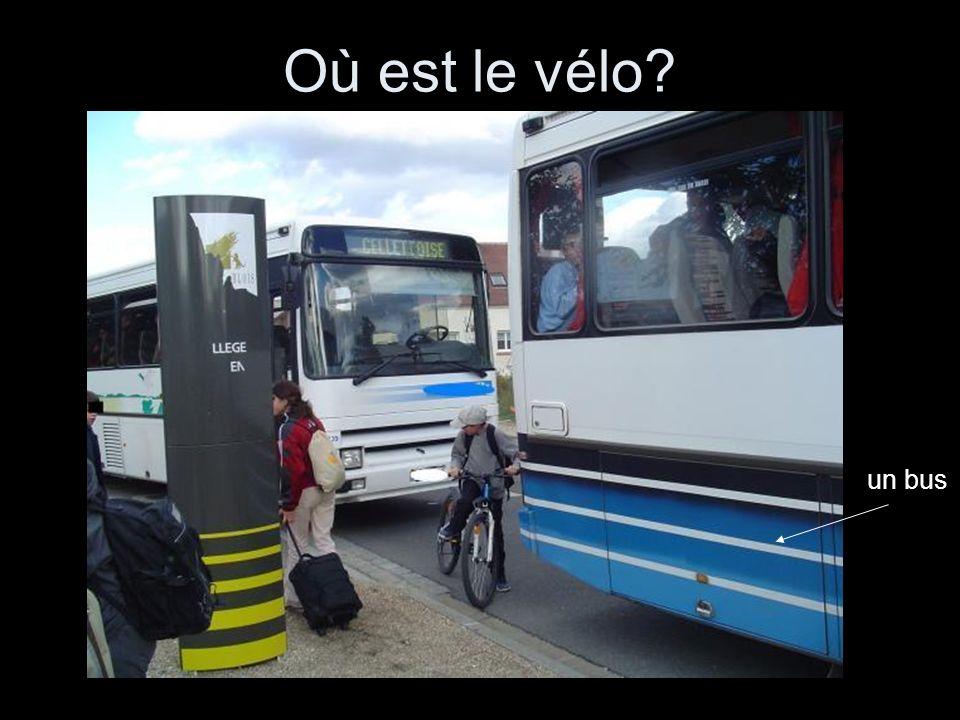 Où est le vélo un bus