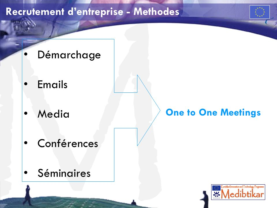 M Recrutement dentreprise - Methodes Démarchage Emails Media Conférences Séminaires One to One Meetings