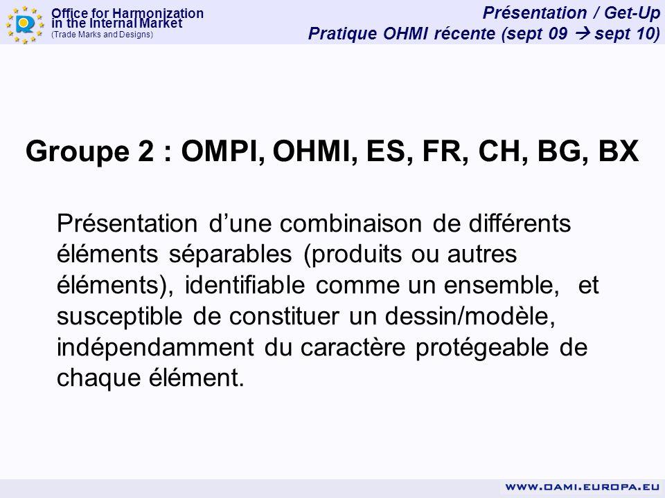 Office for Harmonization in the Internal Market (Trade Marks and Designs) Présentation / Get-Up Pratique OHMI récente (sept 09 sept 10) Groupe 2 : OMP