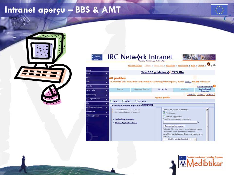 M Intranet aperçu – BBS & AMT