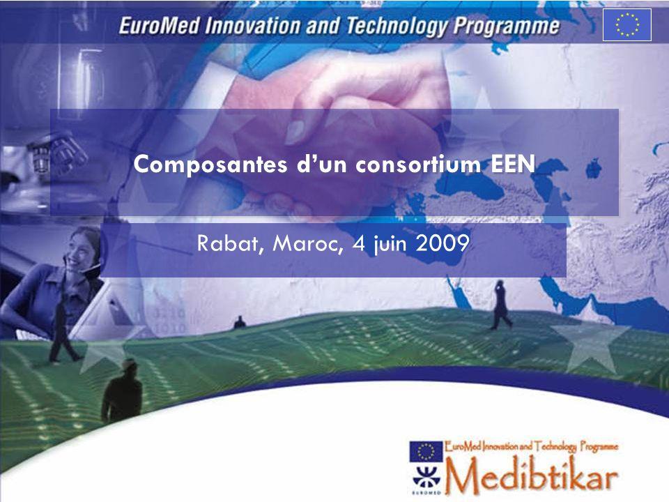 Composantes dun consortium EEN Rabat, Maroc, 4 juin 2009