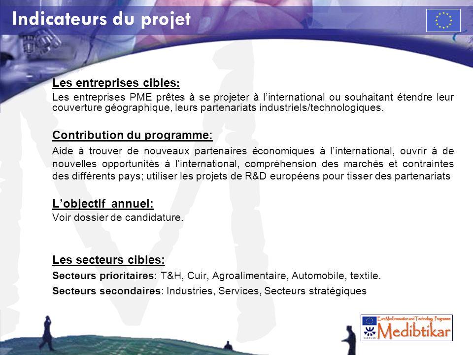 M Les entreprises cibles : Les entreprises PME prêtes à se projeter à linternational ou souhaitant étendre leur couverture géographique, leurs partena