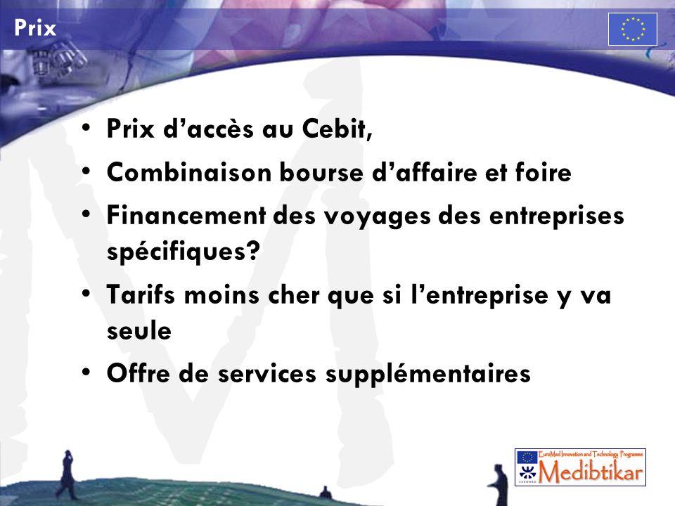 M Prix Prix daccès au Cebit, Combinaison bourse daffaire et foire Financement des voyages des entreprises spécifiques.