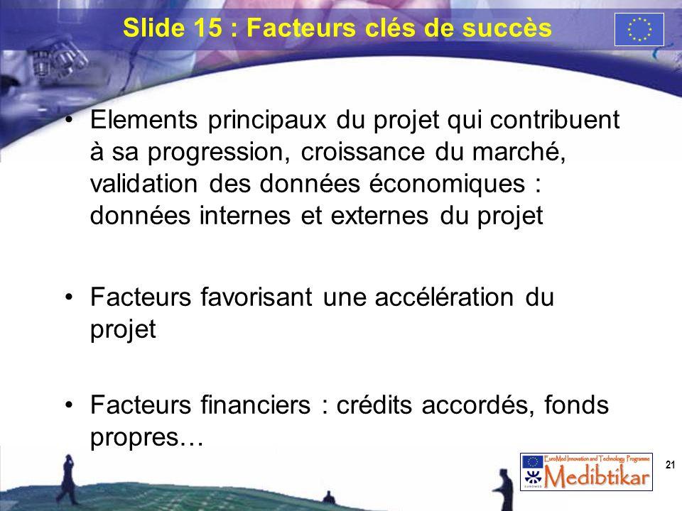Elements principaux du projet qui contribuent à sa progression, croissance du marché, validation des données économiques : données internes et externe