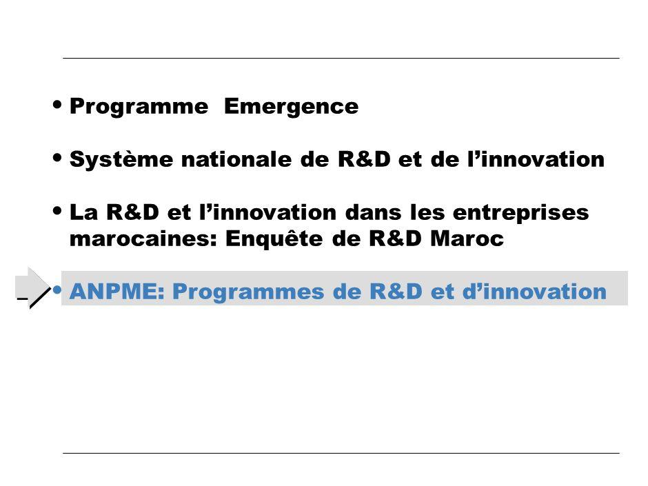 Vers lObservatoire national de linnovation «OBINNOV MAROC» en cours de construction Les dépenses engagées en R&D et ILes dépenses engagées en R&D et I