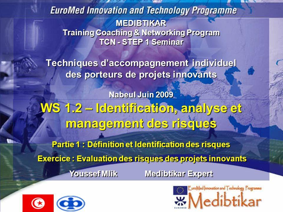 MEDIBTIKAR Training Coaching & Networking Program TCN - STEP 1 Seminar Techniques daccompagnement individuel des porteurs de projets innovants Nabeul