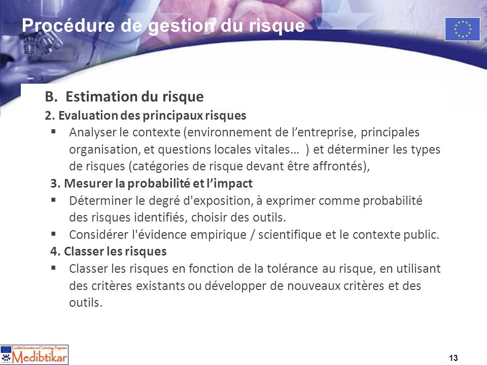 13 B. Estimation du risque 2.