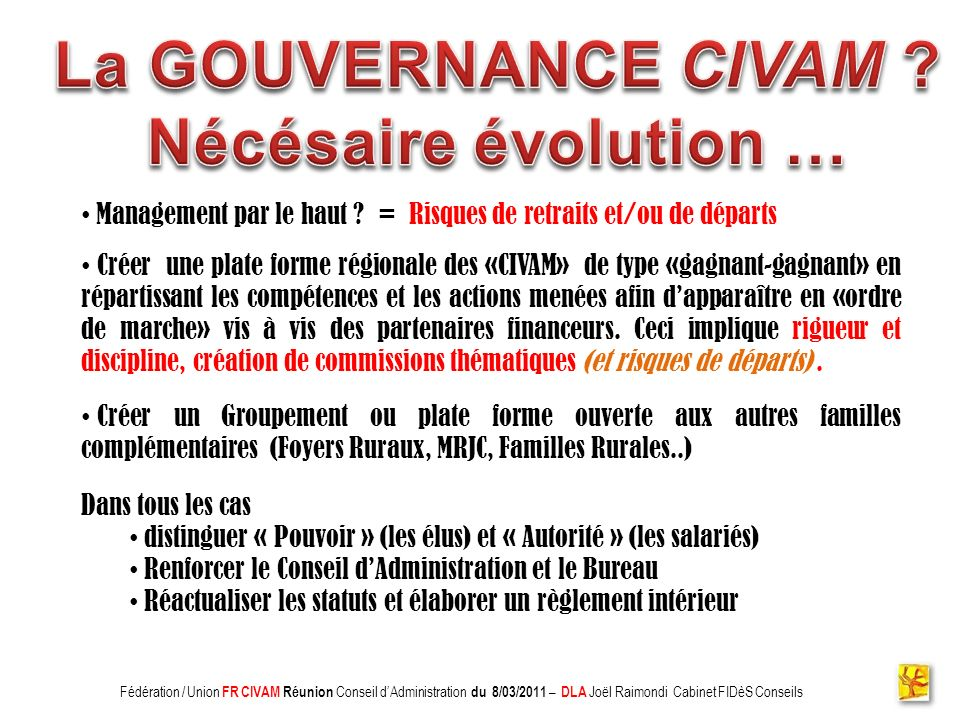 Association CADIFE : Quel Avenir .