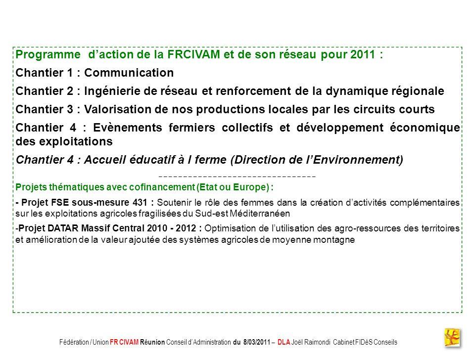 Association CADIFE : Quel Avenir ? - Restitution DLA du 18/05/2010 à Clermont lHérault - Joël Raimondi Cabinet FIDèS CONSEILS et Peter Ulrich Associat