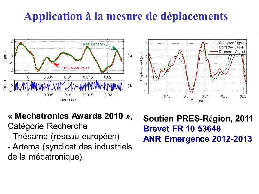 « Mechatronics Awards 2010 », Catégorie Recherche - Thésame (réseau européen) - Artema (syndicat des industriels de la mécatronique). Soutien PRES-R é