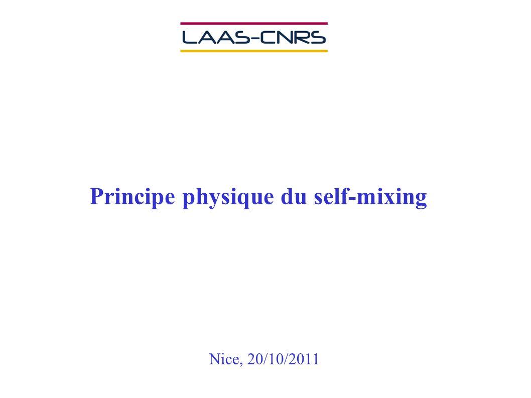 Principe physique du self-mixing Nice, 20/10/2011