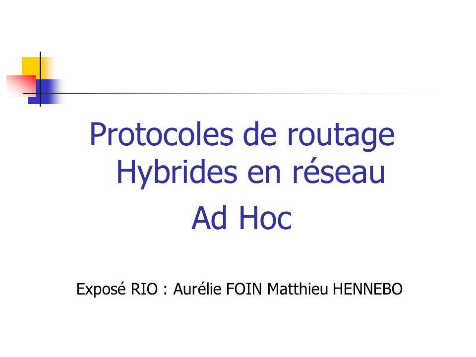 Protocoles de routage Hybrides en réseau Ad Hoc Exposé RIO : Aurélie FOIN Matthieu HENNEBO