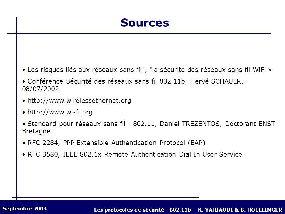 Sources Les risques liés aux réseaux sans fil