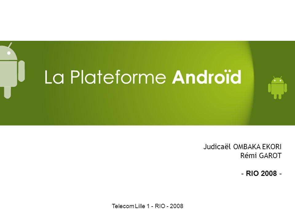 Telecom Lille 1 - RIO - 2008 Judicaël OMBAKA EKORI Rémi GAROT - RIO 2008 -
