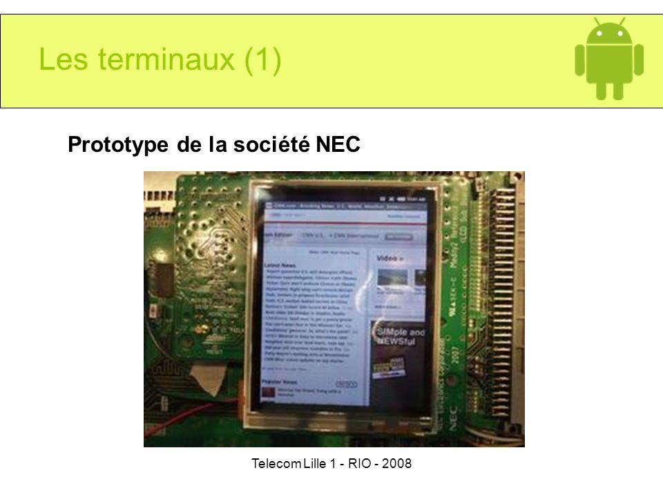 Telecom Lille 1 - RIO - 2008 Les terminaux (1) Prototype de la société NEC