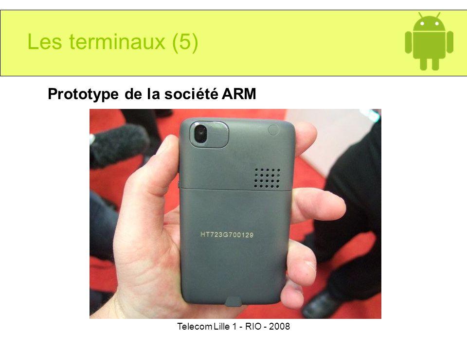 Telecom Lille 1 - RIO - 2008 Les terminaux (5) Prototype de la société ARM