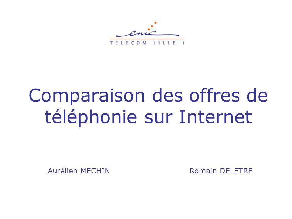 Comparaison des offres de téléphonie sur Internet Aurélien MECHIN Romain DELETRE