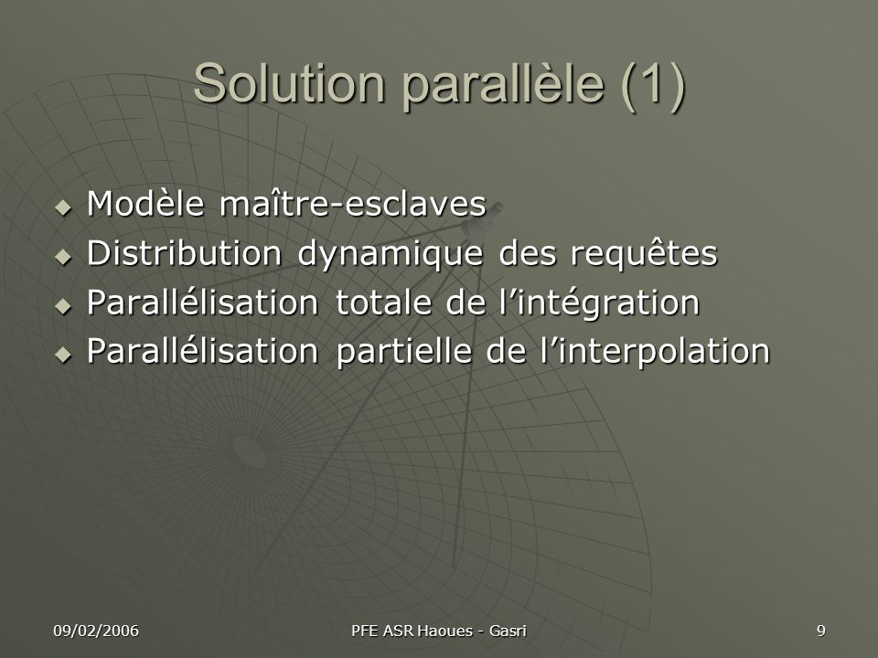 09/02/2006 PFE ASR Haoues - Gasri 30 Conclusion