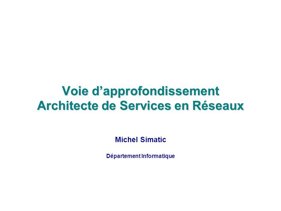 Voie dapprofondissement Architecte de Services en Réseaux Michel Simatic Département Informatique